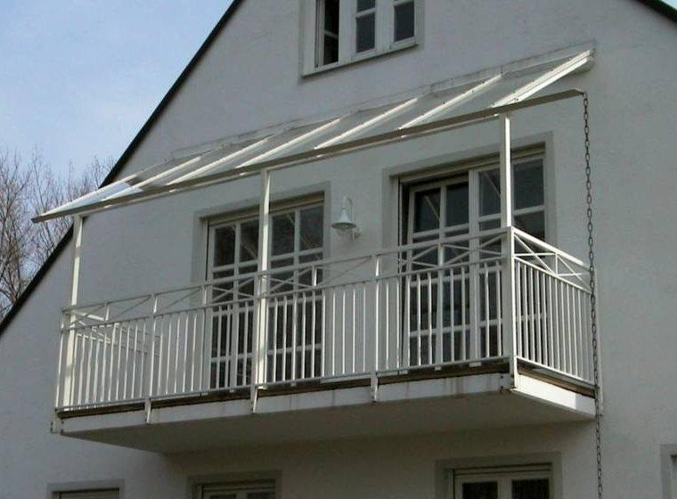 Balkonüberdachungen metallbau zeilbeck handwerksbetrieb schlosserei spenglerei